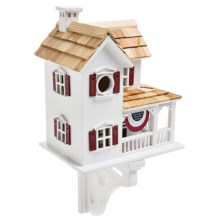 Home Bazaar Farmhouse with Bunting Birdhouse in Americana - Overstock
