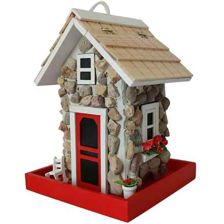 Home Bazaar Fieldstone Guest Cottage Bird Feeder in Stone - Closeouts
