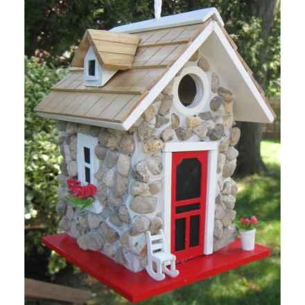Home Bazaar Fieldstone Guest Cottage Birdhouse in Stone - Overstock