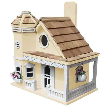 Home Bazaar Flower Pot Cottage Birdhouse in Yellow - Closeouts
