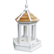 Home Bazaar Gazebo Birdfeeder in White - Closeouts