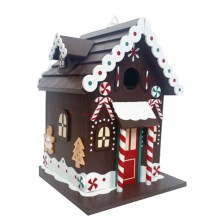 Home Bazaar Gingerbread Christmas Cottage Birdhouse in Gingerbread - Overstock