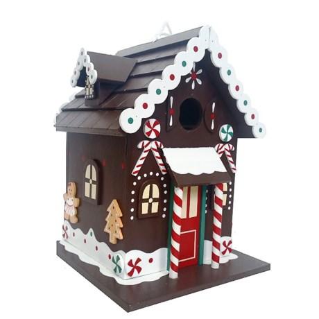 Home Bazaar Gingerbread Christmas Cottage Birdhouse