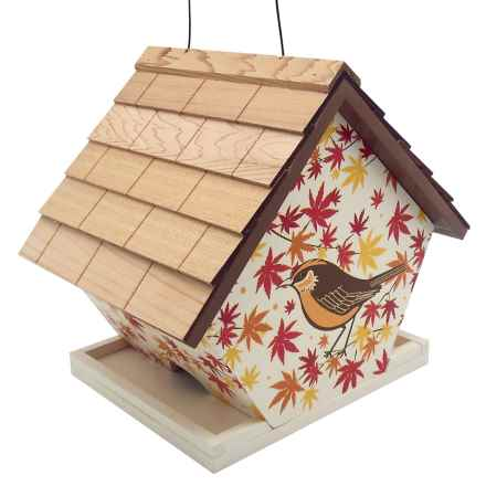 Home Bazaar Hanging Wren Birdhouse in Wren/Maple - Closeouts