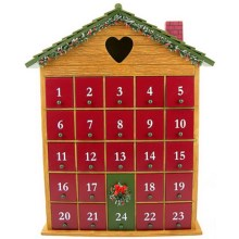 Home Bazaar Heart Advent Calendar in Natural - Closeouts