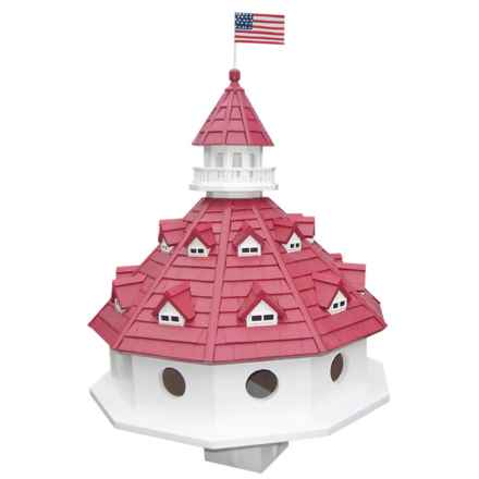 Home Bazaar Hotel California Birdhouse in White/Red - Closeouts