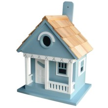 Home Bazaar Lake Cottage Birdhouse in Blue Canoe - Overstock