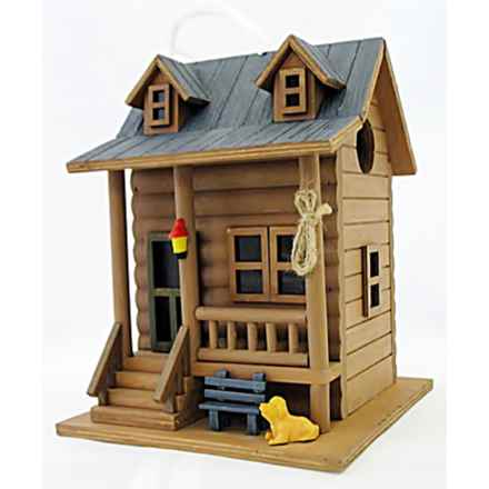 Home Bazaar Log Cabin Birdhouse in Brown - Closeouts