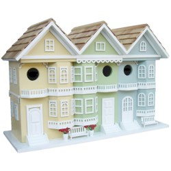 Home Bazaar San Francisco Row Birdhouse in Pastel Multi