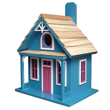 Home Bazaar Santa Cruz Cottage Birdhouse in Blue - Closeouts