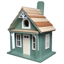 Home Bazaar Santa Cruz Cottage Birdhouse in Green - Closeouts