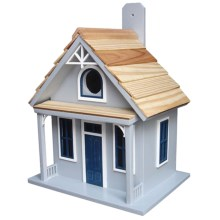 Home Bazaar Santa Cruz Cottage Birdhouse in Mist - Closeouts