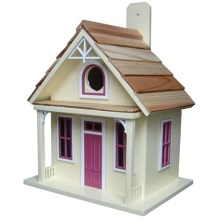 Home Bazaar Santa Cruz Cottage Birdhouse in Yellow - Closeouts