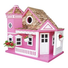 Home Bazaar Sea Cliff Birdhouse in Honeysuckle - Closeouts
