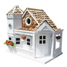 Home Bazaar Sea Cliff Birdhouse in White - Closeouts