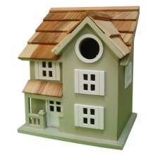 Home Bazaar Townhouse Birdhouse in Green - Closeouts