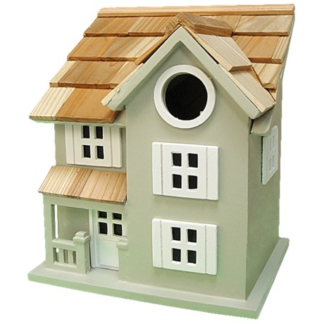 Home Bazaar Townhouse Birdhouse in Sage