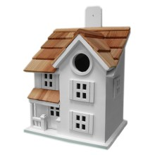 Home Bazaar Townhouse Birdhouse in White - Closeouts