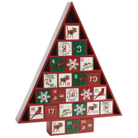 Home Bazaar Tree Advent Calendar in Red - Closeouts