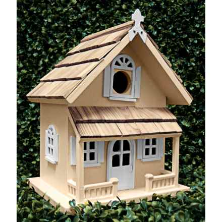 Home Bazaar Victorian Cottage Birdhouse in Yellow - Closeouts