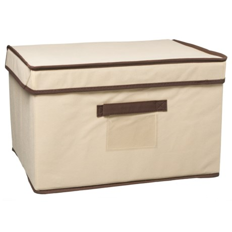 Home Complements Large Beige Collapsible Storage Box in Beige