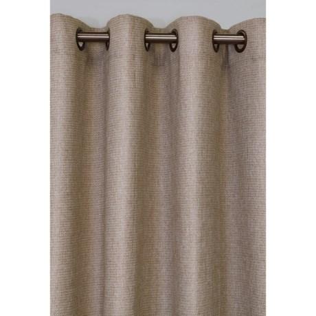 HOME DECORATORS COLLECTION Oatmeal Faux Jute Room Darkening Curtains    108x84u201d, Grommet