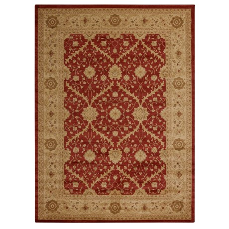 """Home Dynamix Antiqua Interlocking Collection Area Rug - 9'2""""x12'5"""" in Red/Cream"""