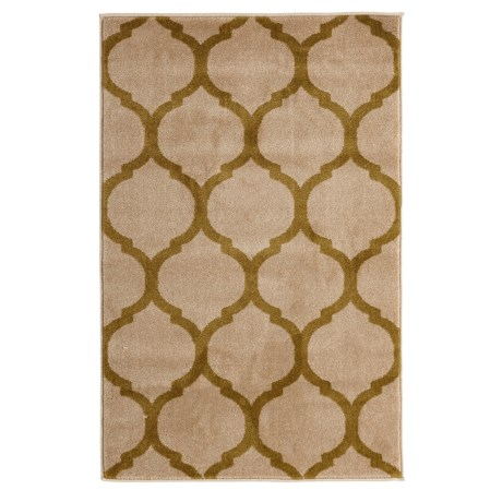 """Home Dynamix Antiqua Tile Collection Accent Rug - 31.5x47"""" in Cream/Lime"""