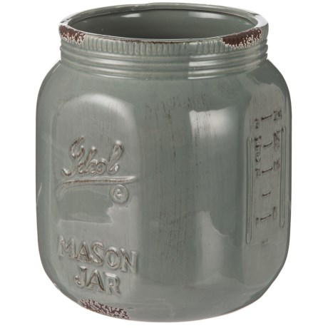 "Home Essentials & Beyond Antique Vintage Crock - 8"" in Grey"