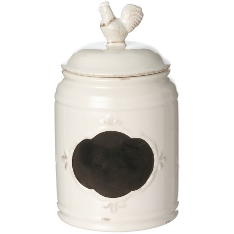Home Essentials & Beyond Chalkboard Rooster Canister - 115 oz. in Ivory