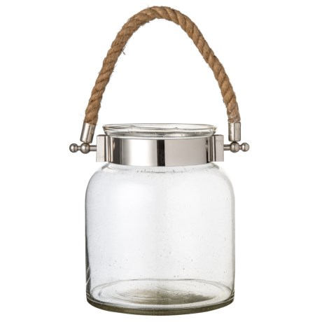 "Home Essentials & Beyond Clear Port Lantern - 8.75"" in Clear"