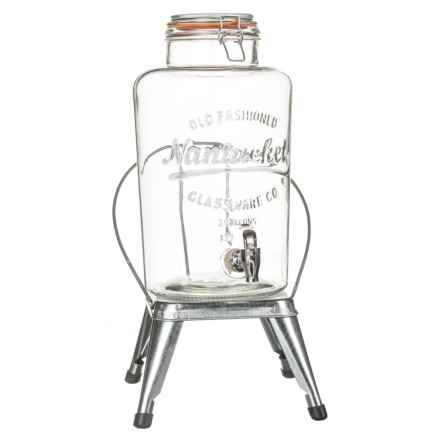 Home Essentials & Beyond Drink Dispenser with Chair Stand - 2.15-Gallon in Clear - Closeouts