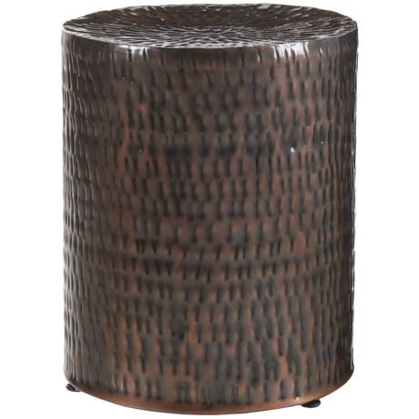 """Home Essentials & Beyond Hammered Garden Stool - 17x14"""" in Copper"""