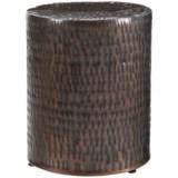 """Home Essentials & Beyond Hammered Garden Stool - 19x16"""""""
