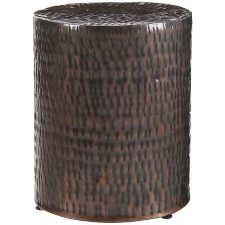 """Home Essentials & Beyond Hammered Garden Stool - 19x16"""" in Copper - Closeouts"""