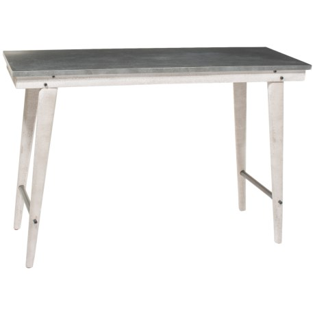 Home Essentials & Beyond Metal Top Farm Table in Natural