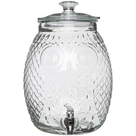 Home Essentials & Beyond Owl Drink Dispenser - 2.3-Gallon in Clear