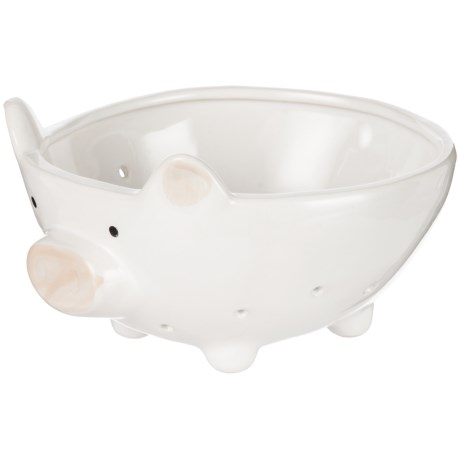 """Home Essentials & Beyond Pig Colander - 7"""" in White"""