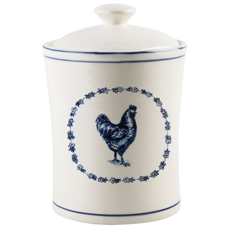 Home Essentials & Beyond Rooster Covered Canister in White