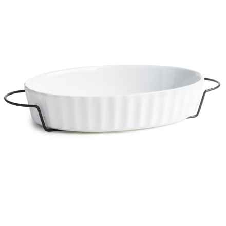 Home Essentials Baker with Iron Rack - 1 qt. in White - Closeouts