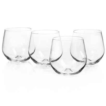 Home Essentials Cellini Premium Stemless Wine Glasses - 15 fl.oz., Set of 4 in See Photo - Closeouts