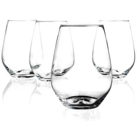 Home Essentials Cellini Premium Stemless Wine Glasses - 18 oz., Set of 4 in See Photo - Closeouts