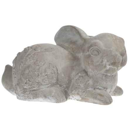 Home Essentials Cement Rabbit Garden Figure in Cement - Overstock