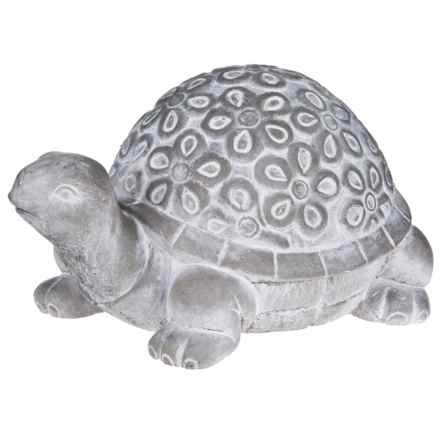 Home Essentials Cement Turtle Garden Figure in Grey - Overstock