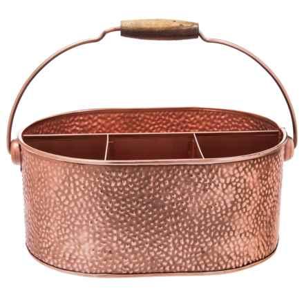 Home Essentials Galvanized Copper Caddy in Copper - Closeouts