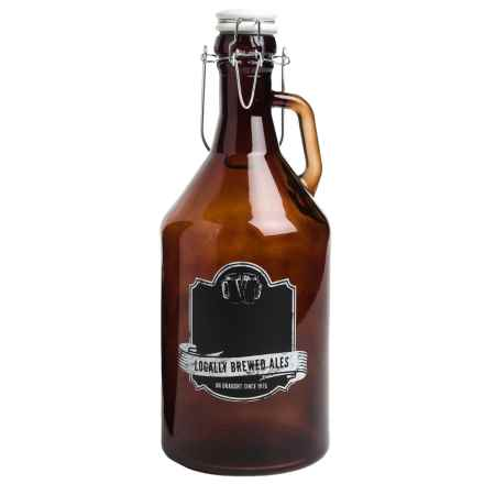 Home Essentials Growler with Chalk Label - 67 fl.oz. in Amber - Closeouts