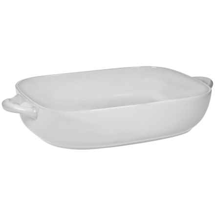 """Home Essentials Maison Rounded Edge Rectangle Baking Dish - 13"""" in White - Closeouts"""