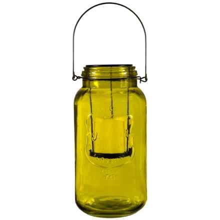 Home Essentials Mason Jar LED Lantern in Light Green - Overstock