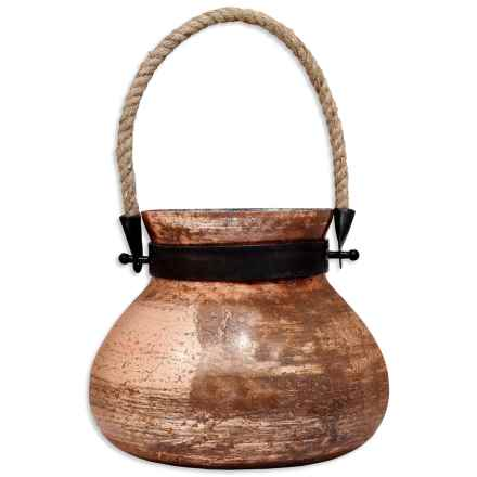 Home Essentials Matka Glass Lantern in Copper - Overstock