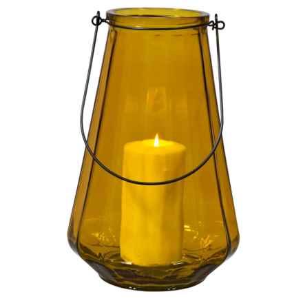 "Home Essentials Optic Lantern - 13"" in Amber - Overstock"